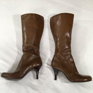 Mossimo Brown heeled high boots size 7